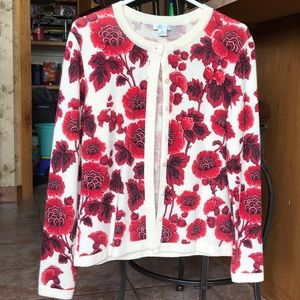 Red carnations sweater